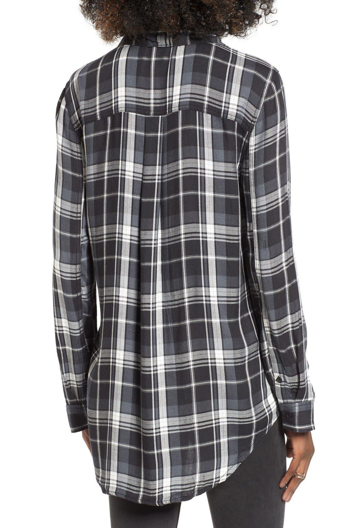 ,                             Plaid Tunic Shirt,                             Alternate thumbnail 10, color,                             002