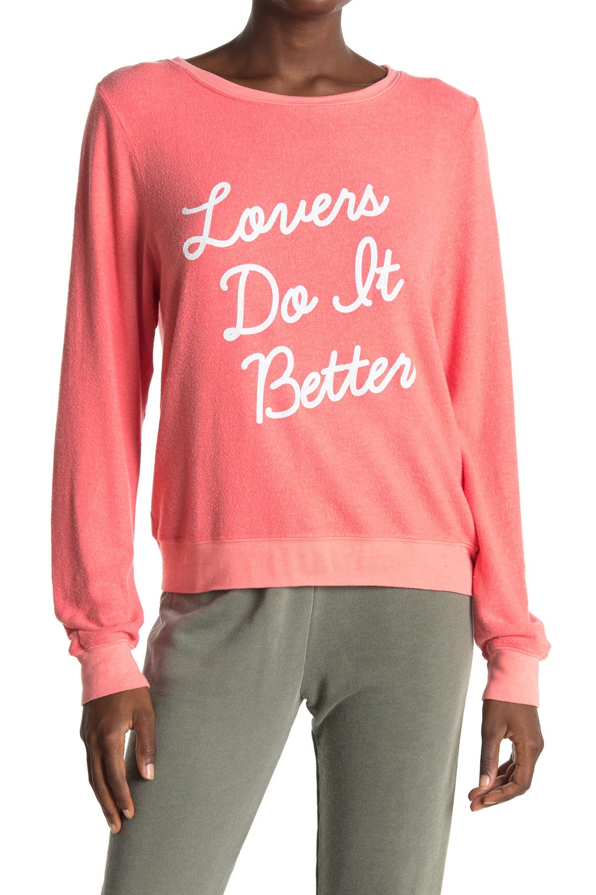 Image of WILDFOX Lovers Do It Better Graphic Pullover