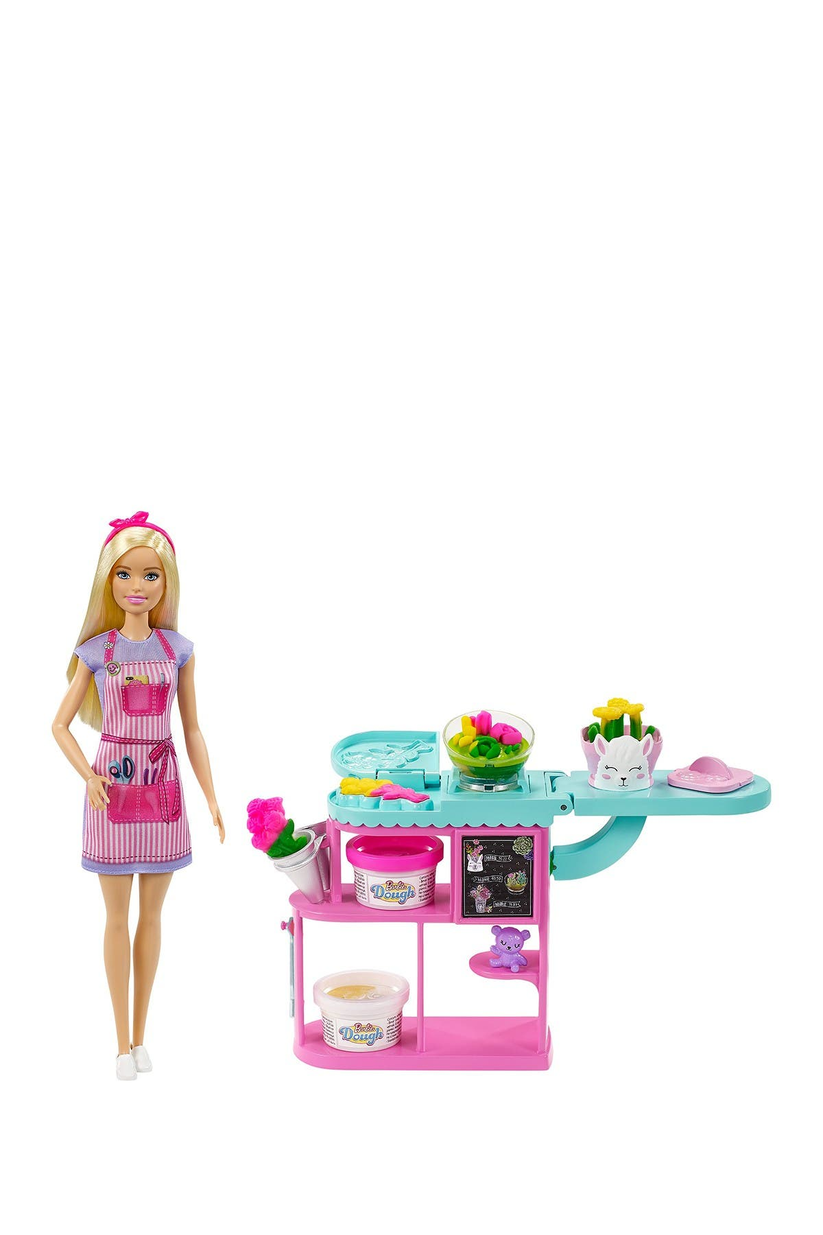Image of Mattel Barbie® Florist Doll & Play Dough Playset