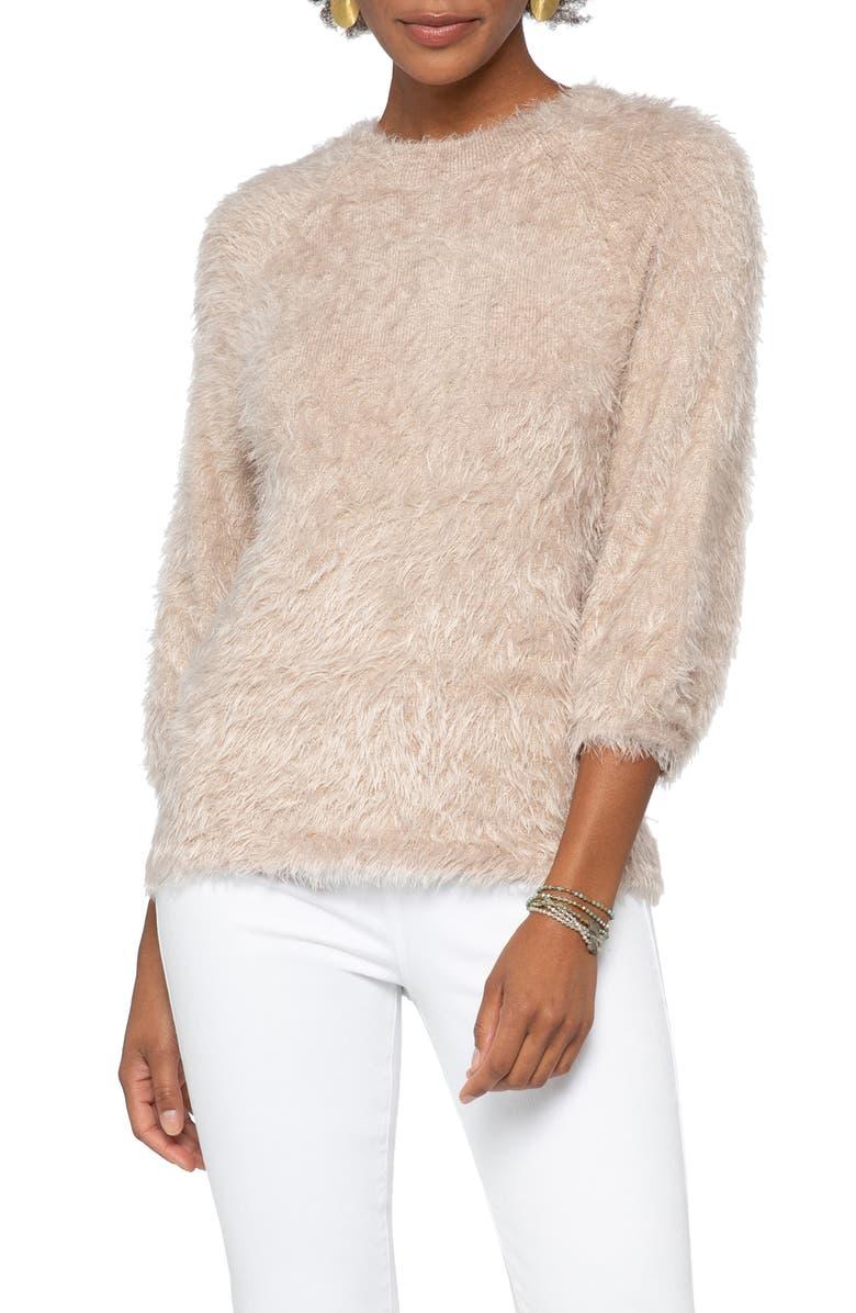 NIC+ZOE Cozy Up To Eyelash Sweater, Main, color, WALNUT CREAM
