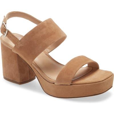Steve Madden Rena Platform Sandal, Brown