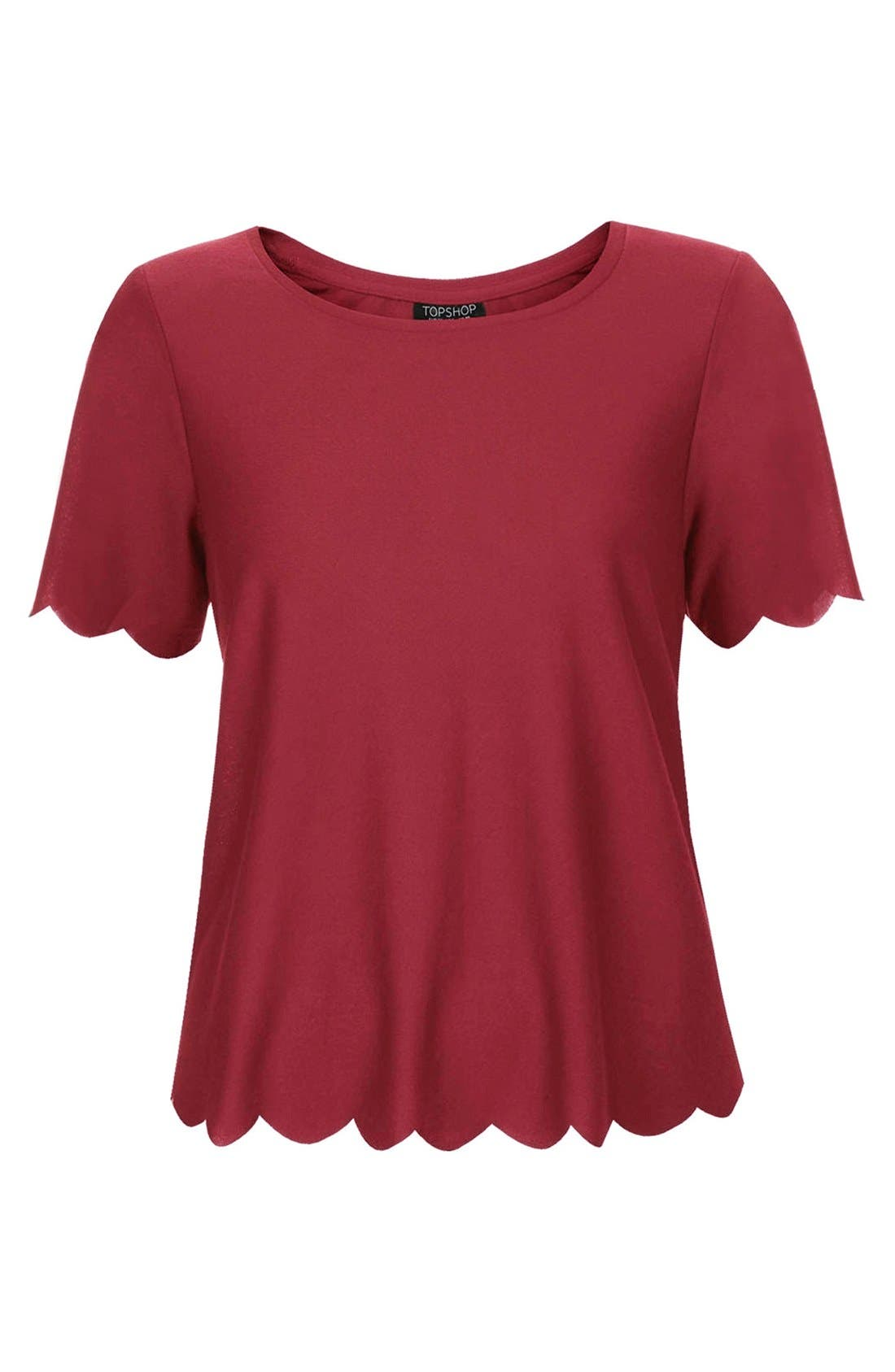 ,                             Scallop Frill Tee,                             Alternate thumbnail 26, color,                             600