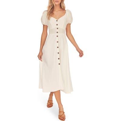 Astr The Label Pippa Midi Dress, White