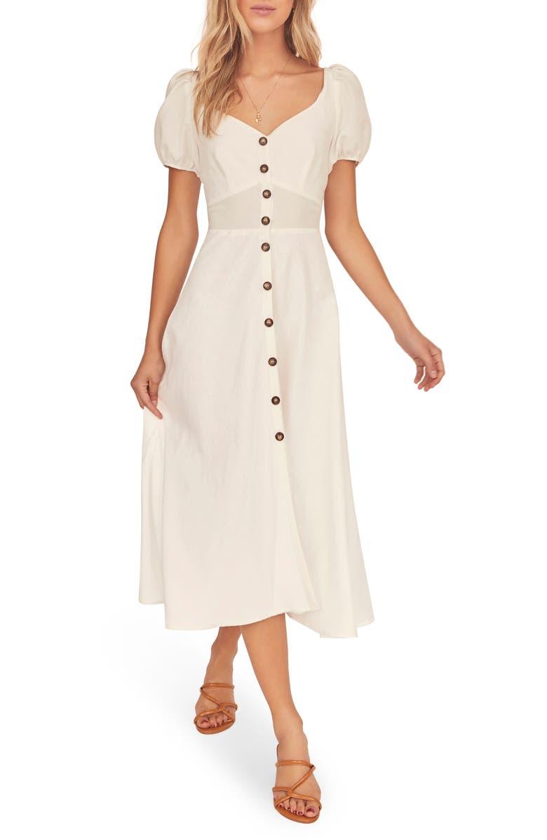 ASTR THE LABEL Pippa Midi Dress, Main, color, WHITE