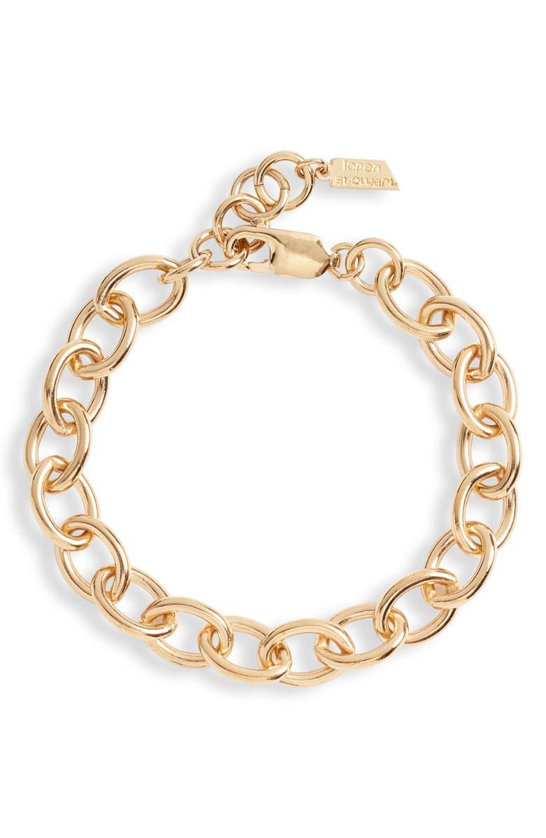 LOREN STEWART Round Link Chain Bracelet, Main, color, YELLOW GOLD