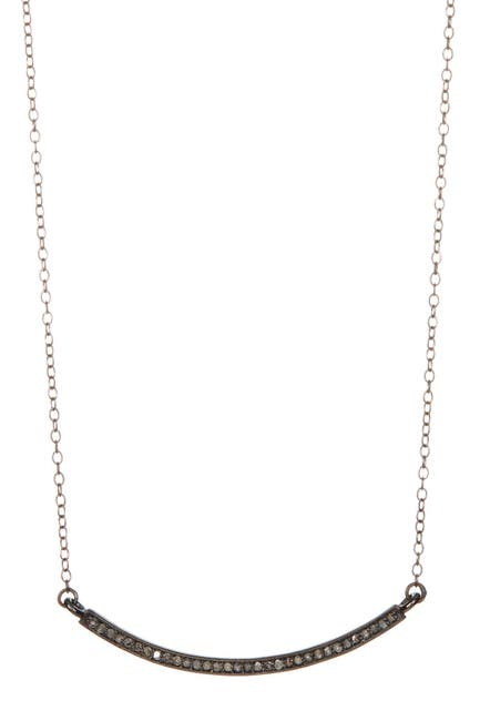 Image of ADORNIA Mercer Champagne Diamond Curved Bar Necklace - 0.30 ctw