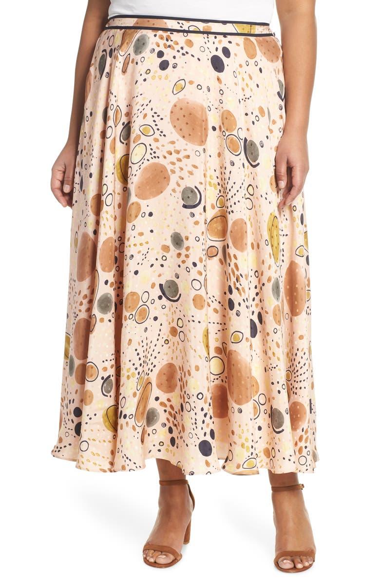 LAFAYETTE 148 NEW YORK Ambria Print Silk Maxi Skirt, Main, color, MACAROON MULTI