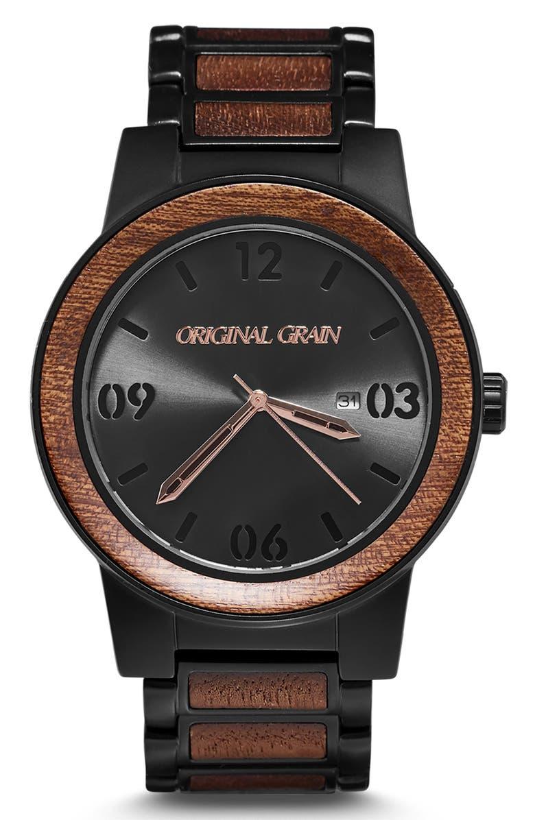 ORIGINAL GRAIN The Barrel Bracelet Watch, 47mm, Main, color, 001