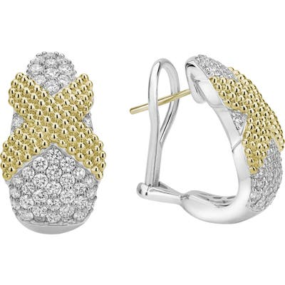 Lagos Caviar Lux Diamond Earrings
