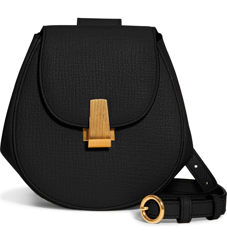 BOTTEGA VENETA Palmellato Leather Belt Bag, Main, color, NERO