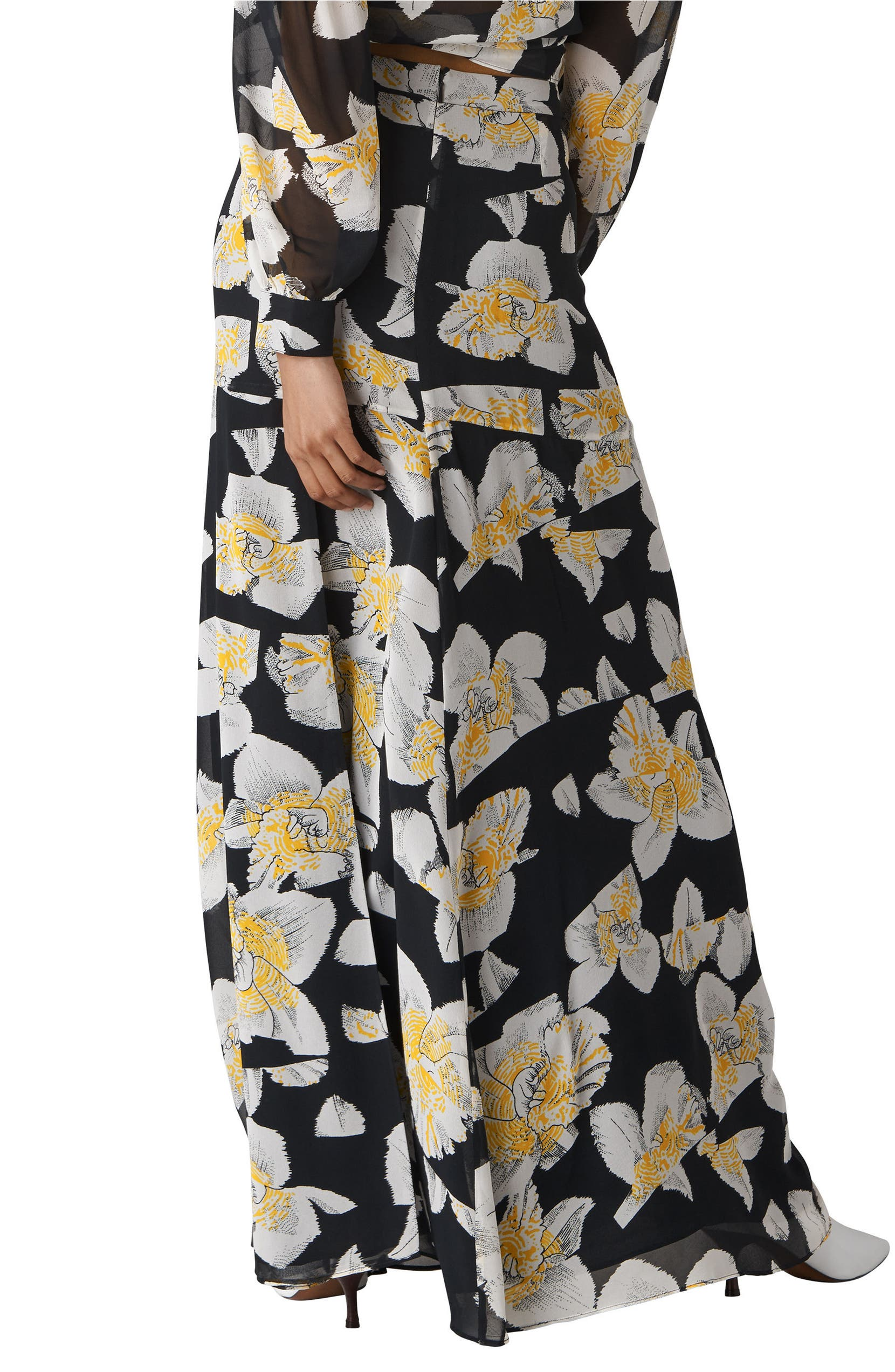 491798681 Whistles Rika Floral Silk Maxi Skirt   Nordstrom