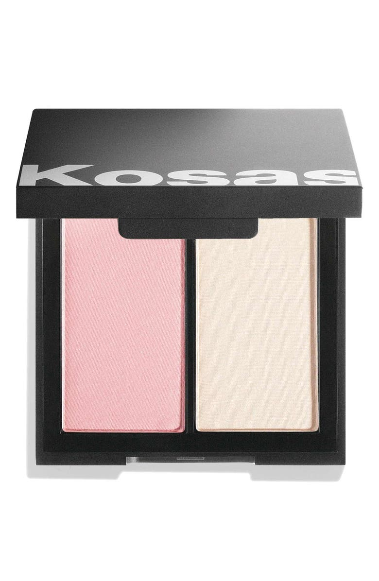 KOSAS Color & Light Pressed Powder Blush and Highlighter, Main, color, LONGITUDE 0