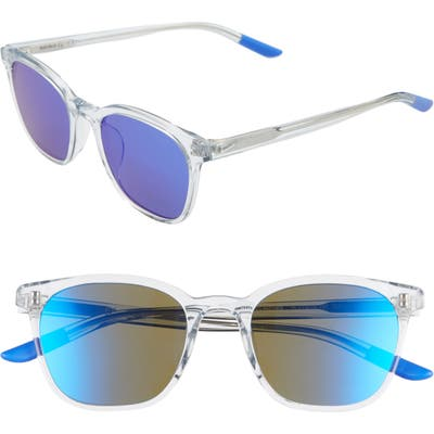 Nike Clincher 50Mm Mirrored Sunglasses - Ghost/ Ultraviolet