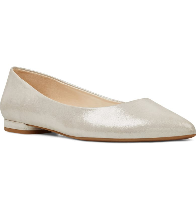 NINE WEST 'Onlee' Pointy Toe Flat, Main, color, 040