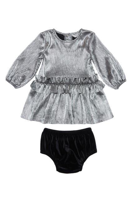 Image of Habitual Kids Colette Metallic Dress 2-Piece Set