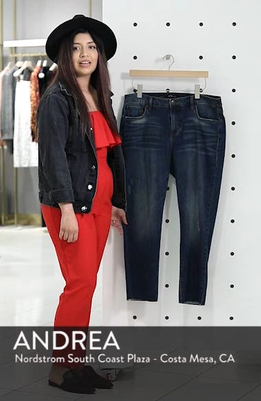 Cara Cuffed Slim Straight Jeans, sales video thumbnail