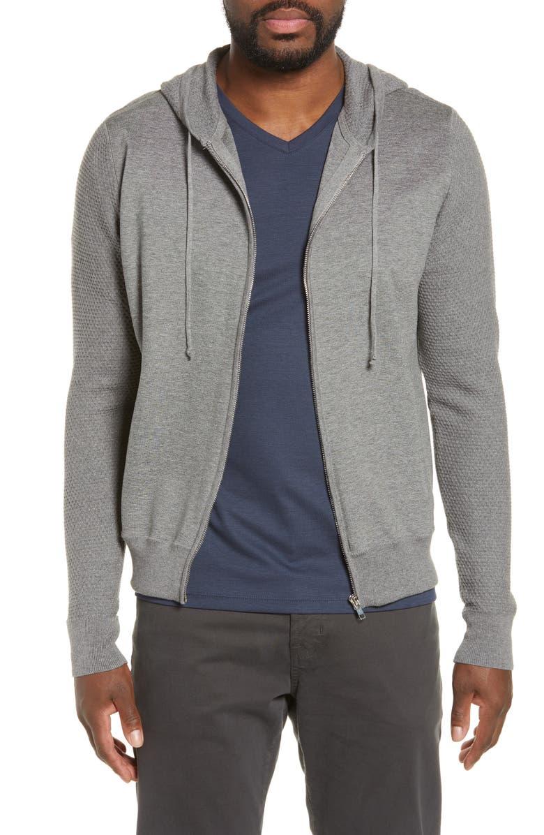 ZACHARY PRELL Cedarhurst Regular Fit Hooded Zip Sweater, Main, color, 020