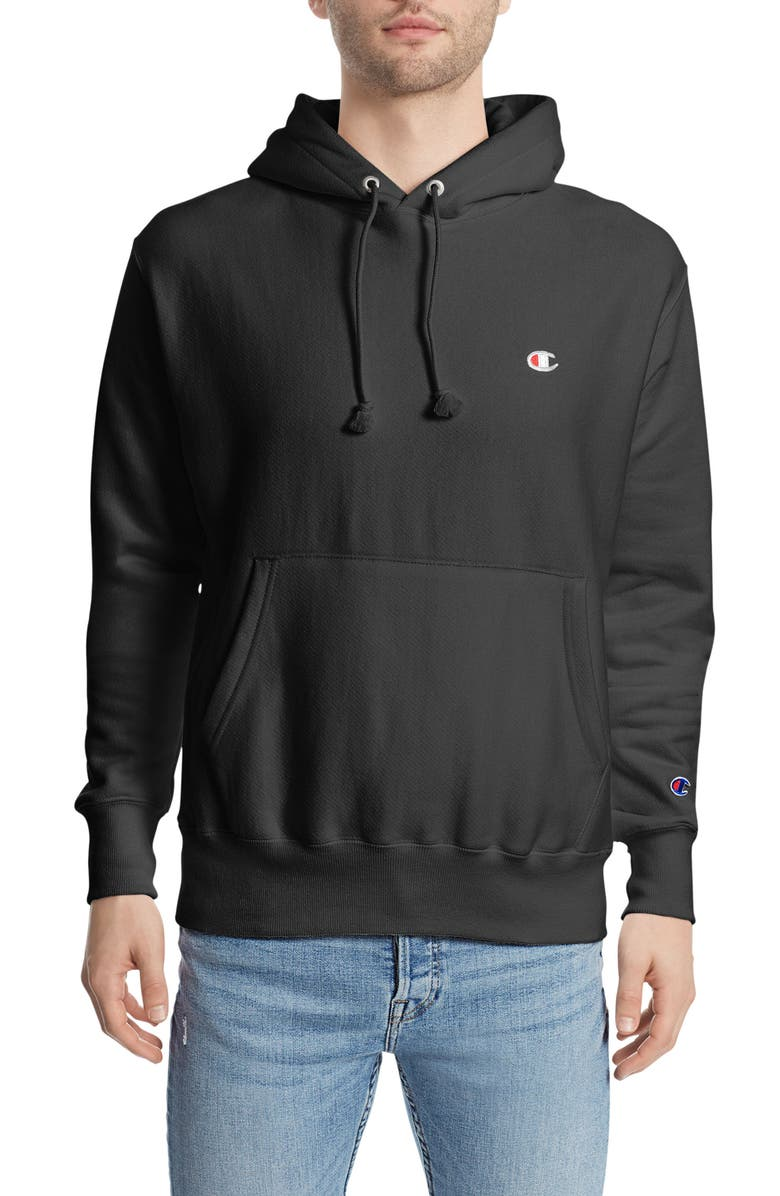 CHAMPION Reverse Weave<sup>®</sup> Pullover Hoodie, Main, color, BLACK
