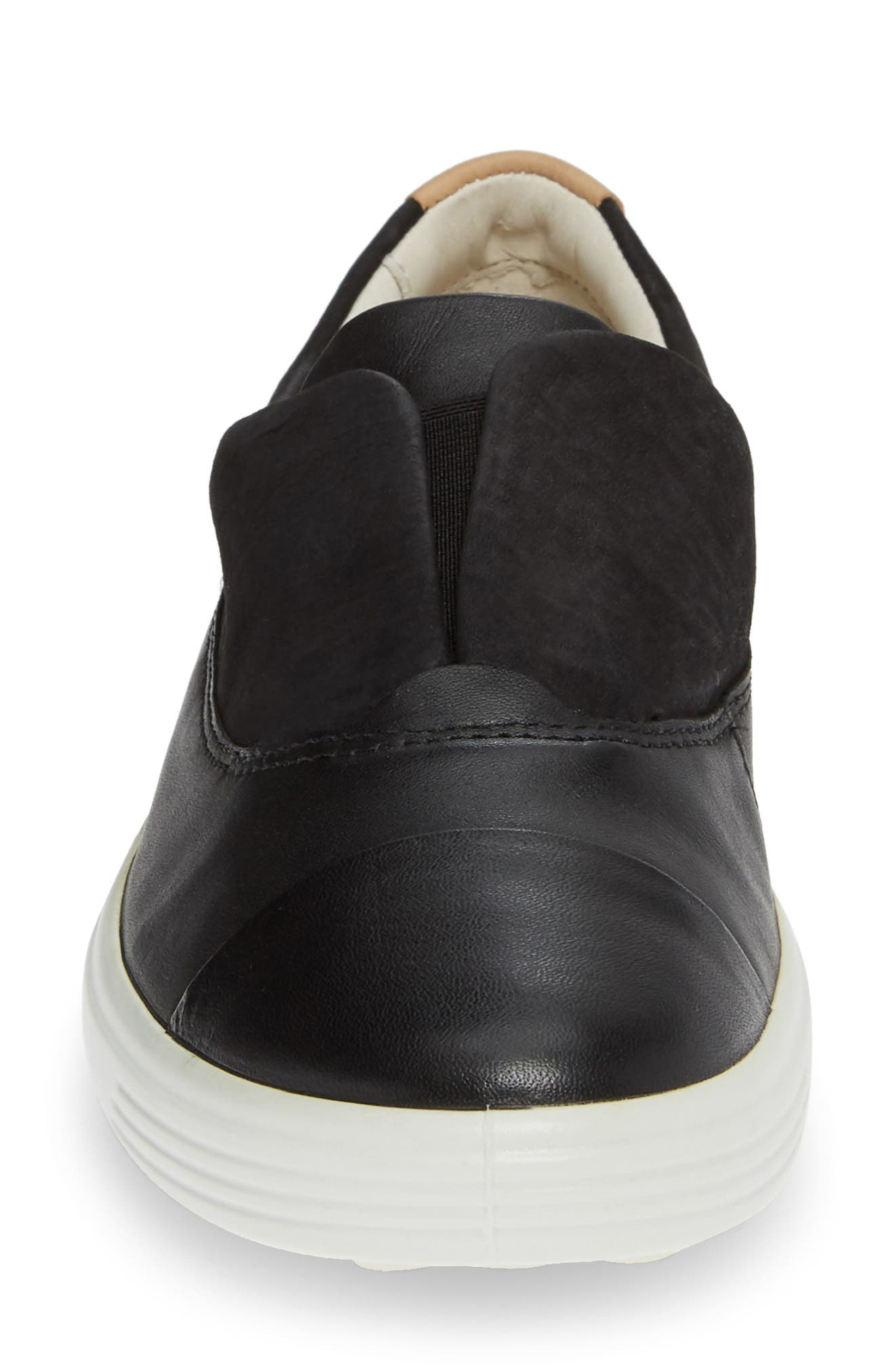 ,                             Soft 7 II Slip-On Sneaker,                             Alternate thumbnail 4, color,                             BLACK LEATHER