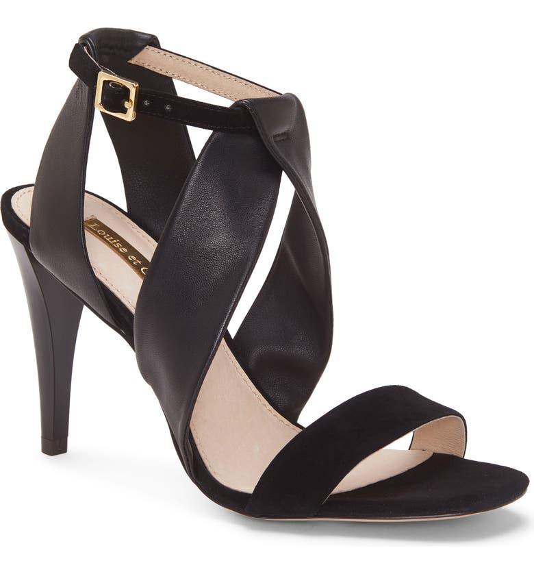 LOUISE ET CIE Kalkin Sandal, Main, color, BLACK SUEDE