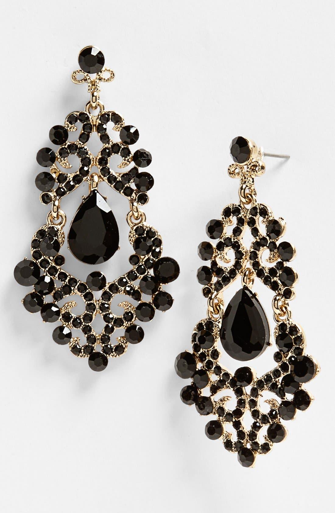 Ornate Chandelier Earrings, Main, color, 001