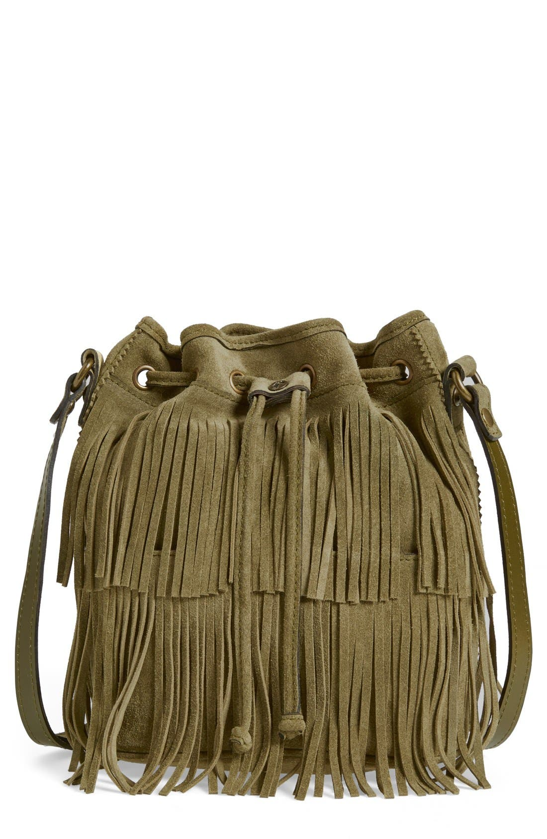 ,                             'Bronte' Fringe Bucket Bag,                             Main thumbnail 16, color,                             300
