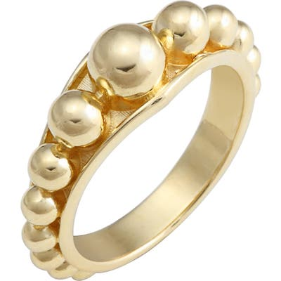 Lagos Caviar Gold Ring
