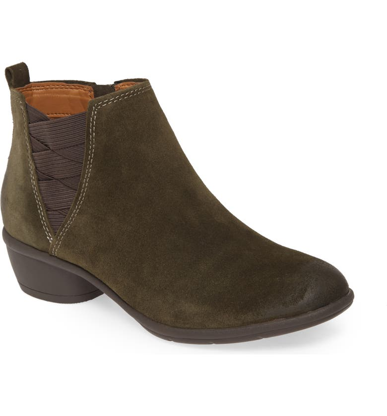 COMFORTIVA Questa Ankle Boot, Main, color, OLIVE SUEDE