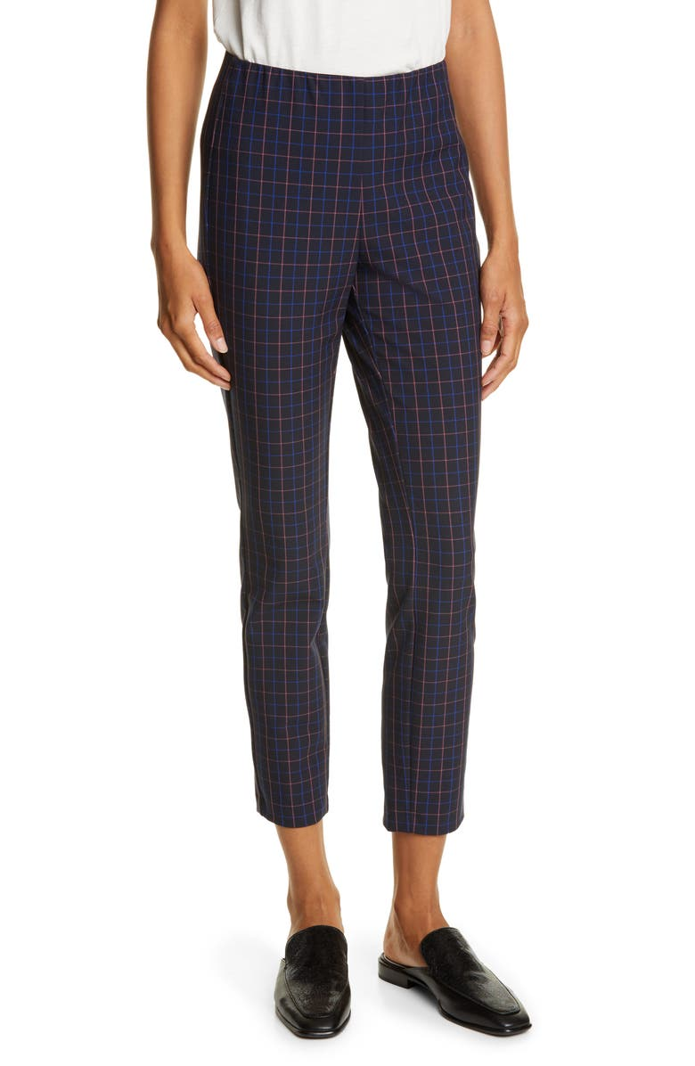 RAG & BONE Simone Plaid Slim Ankle Pants, Main, color, 438