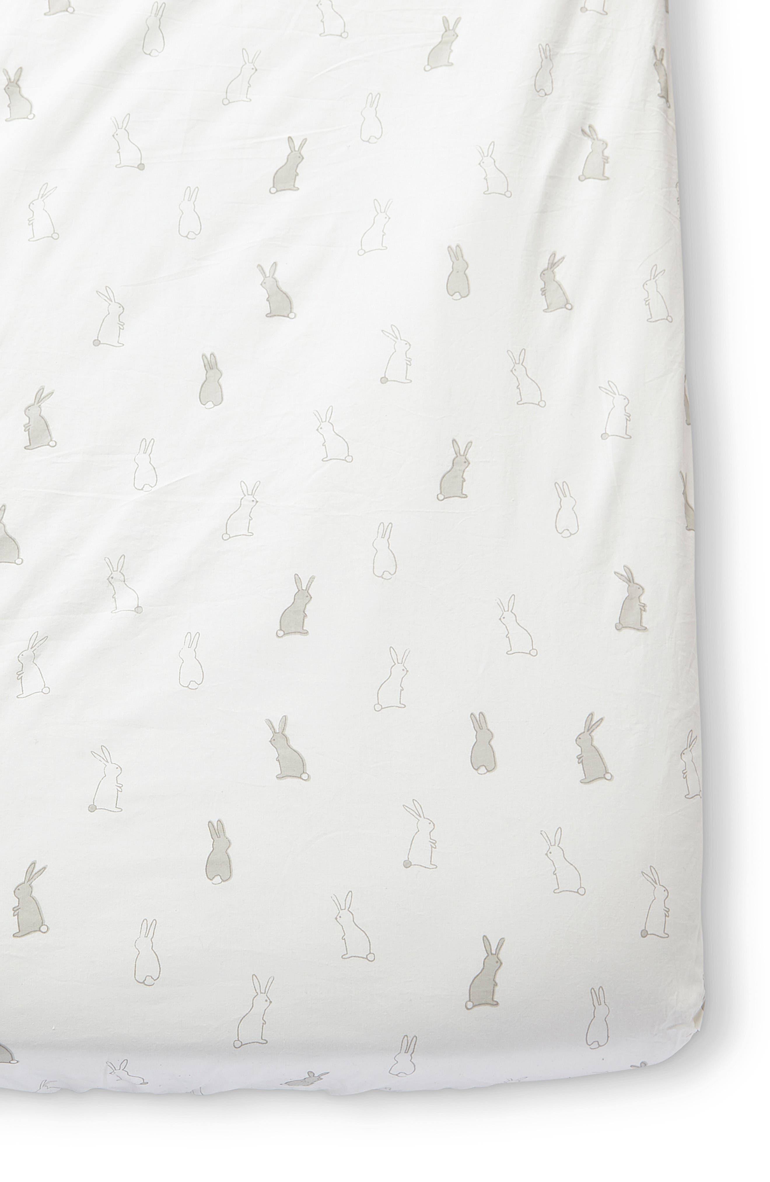 Pehr Bunny Hop Organic Cotton Crib Sheet