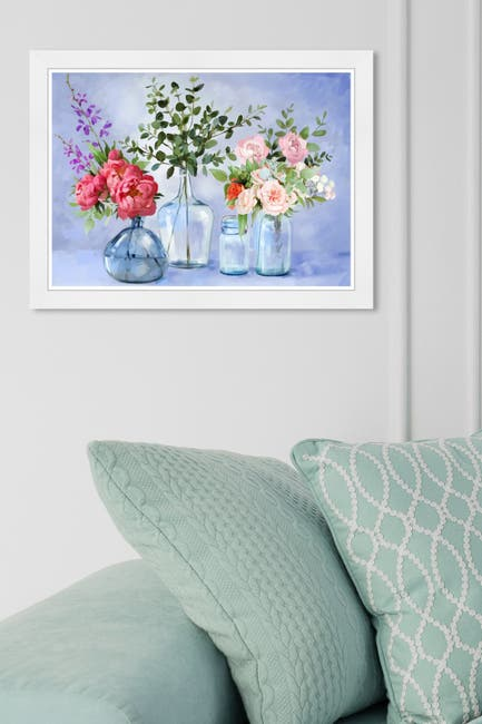 Image of Wynwood Studio Glassy Lavender Flowers Framed Art