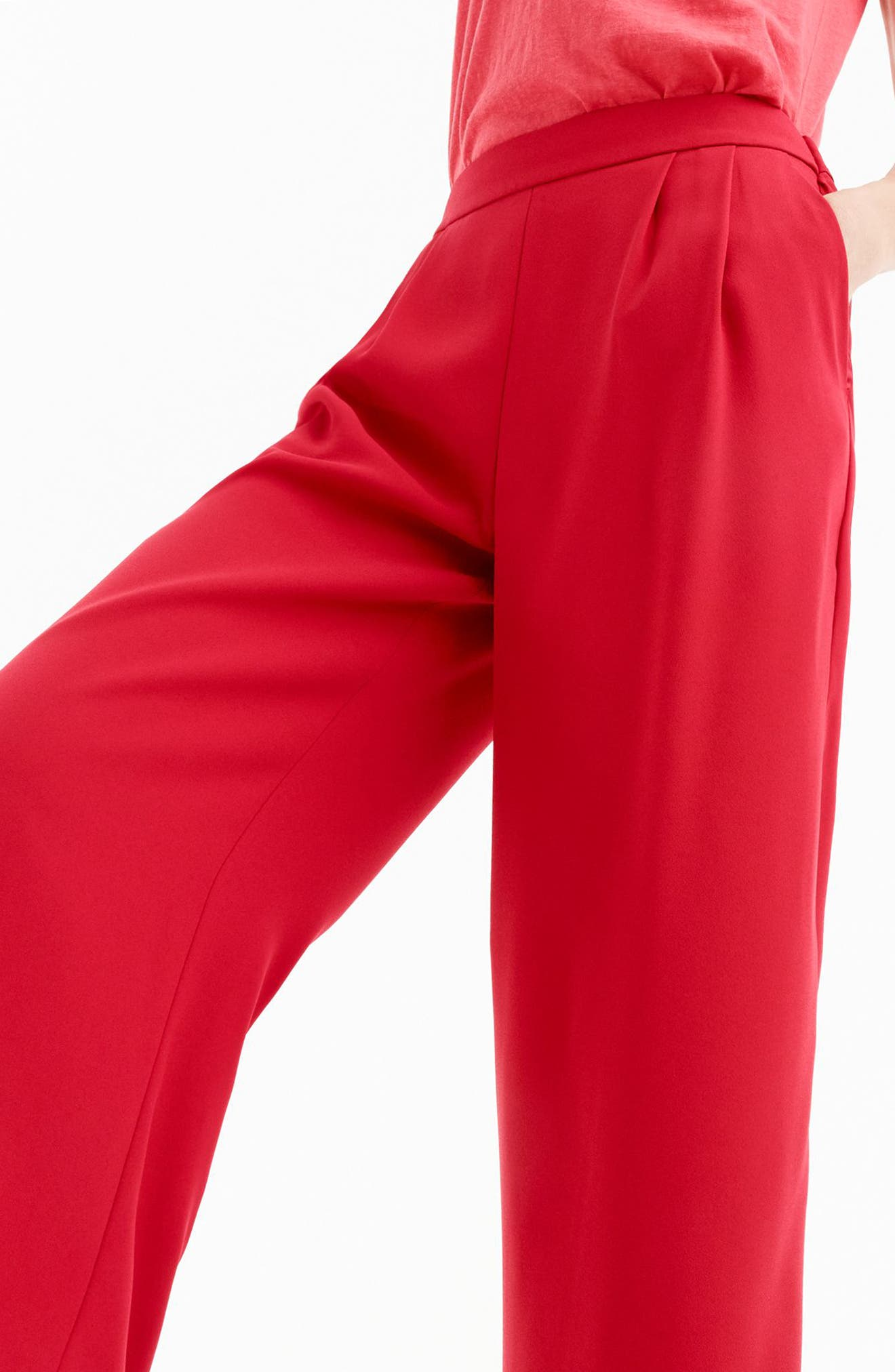 ,                             Wide Leg Crop Pants,                             Alternate thumbnail 14, color,                             600