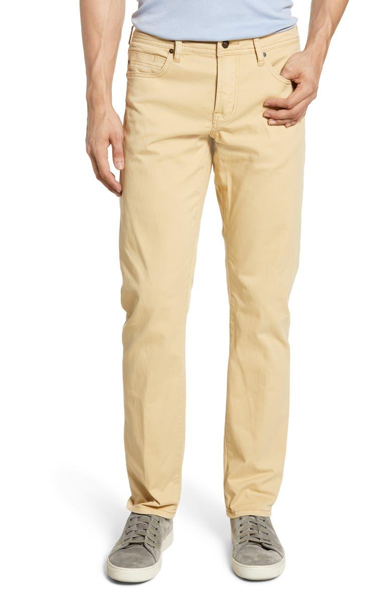 LIVERPOOL Kingston Slim Straight Leg Jeans, Main, color, MAIZE