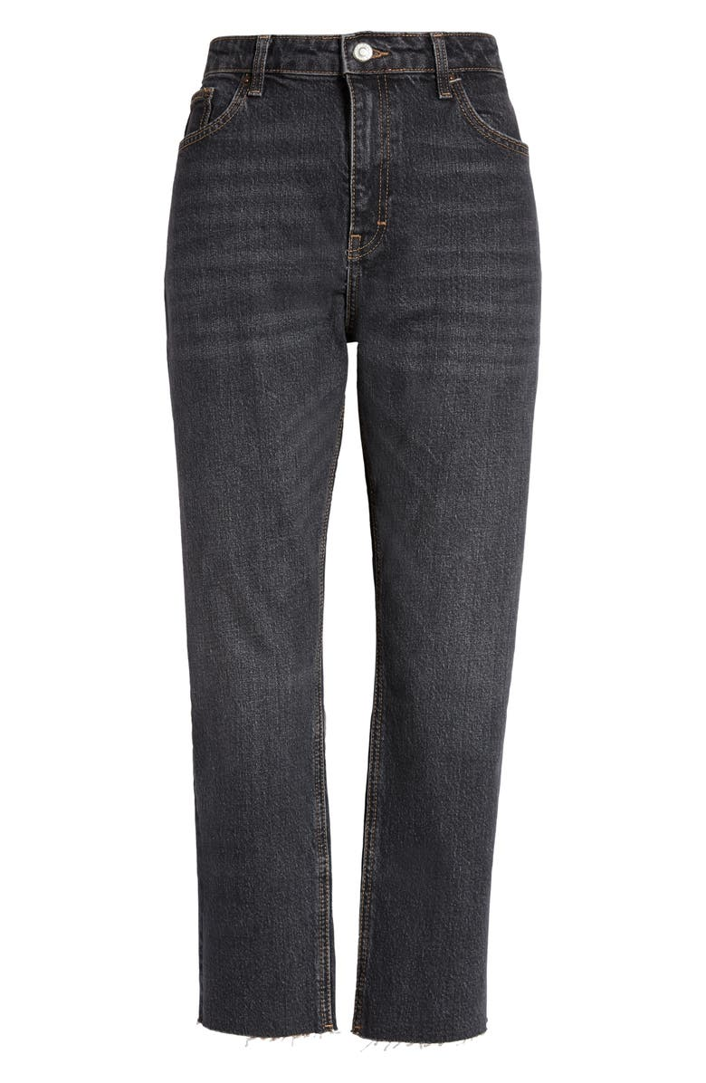 TOPSHOP Straight Leg Crop Jeans, Main, color, 003