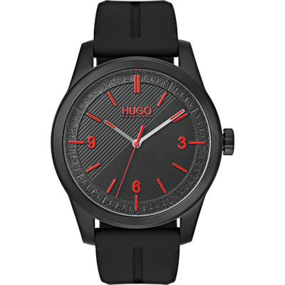 Hugo Automatic Silicone Strap Watch, 40Mm