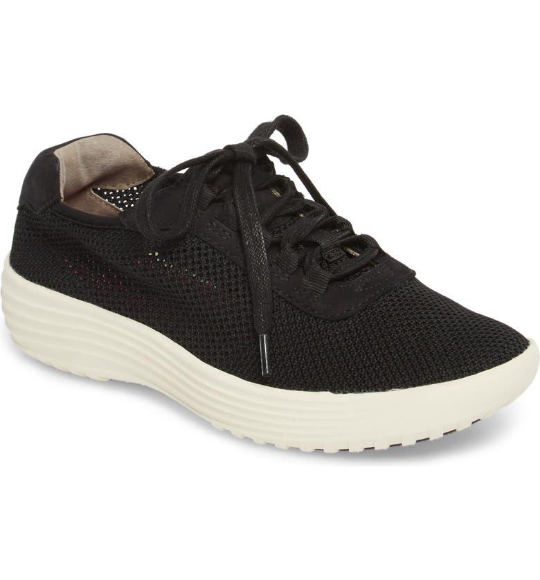 BIONICA Malibu Sneaker, Main, color, BLACK KNIT FABRIC
