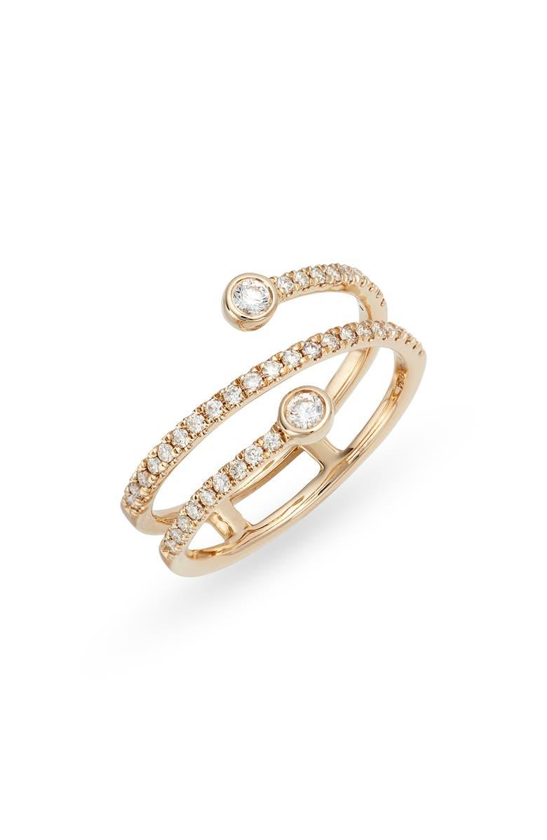 DANA REBECCA DESIGNS Lulu Jack Wraparound Diamond Ring, Main, color, YELLOW GOLD