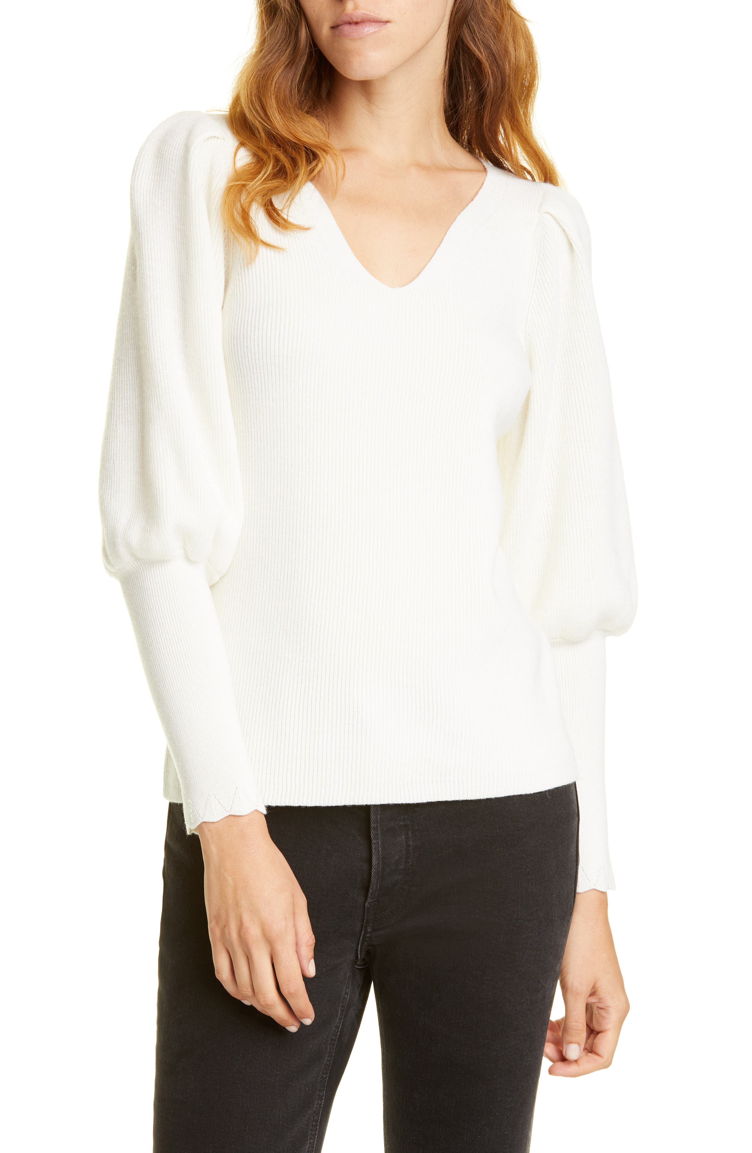 Image of Rebecca Taylor Luxe Merino Wool Blend Pullover