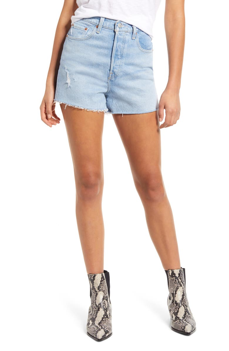 LEVI'S<SUP>®</SUP> Ribcage Shorts, Main, color, TANGO LIGHT SHORT