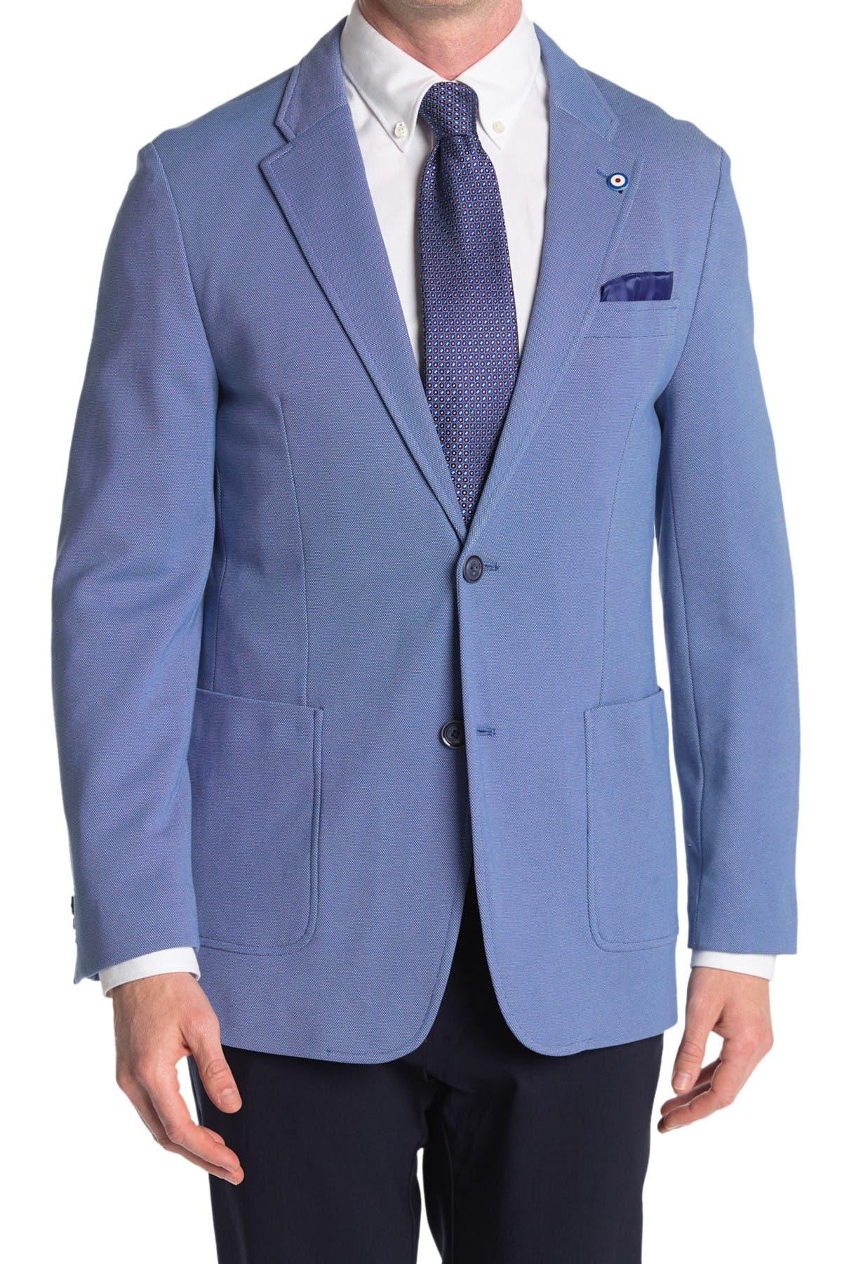Image of Ben Sherman Blue Birdseye Two Button Notch Lapel Union Fit Sport Coat
