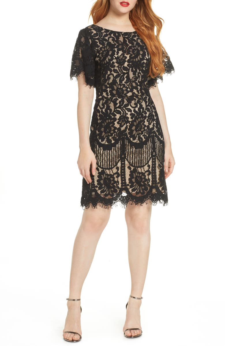 Pearson Short Sleeve Lace Cocktail Dress by Lulus
