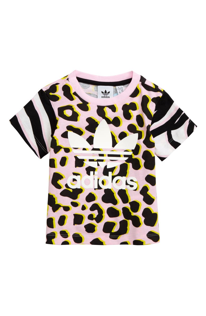 ADIDAS ORIGINALS Leopard T-Shirt, Main, color, 250