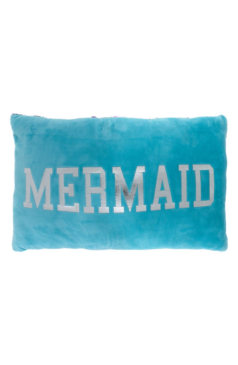 CAPELLI NEW YORK Flip Sequin Mermaid Scale Accent Pillow, Main, color, 338
