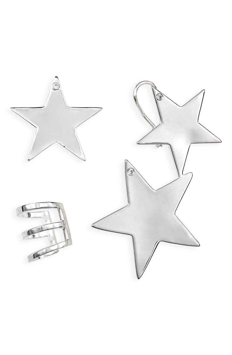 BILLIE VALENTINE Birds of Prey Billie Valentine Harley's Star Earring, Crawler & Cuff Set, Main, color, 041