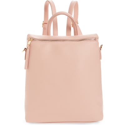 Bp. Square Faux Leather Backpack - Pink