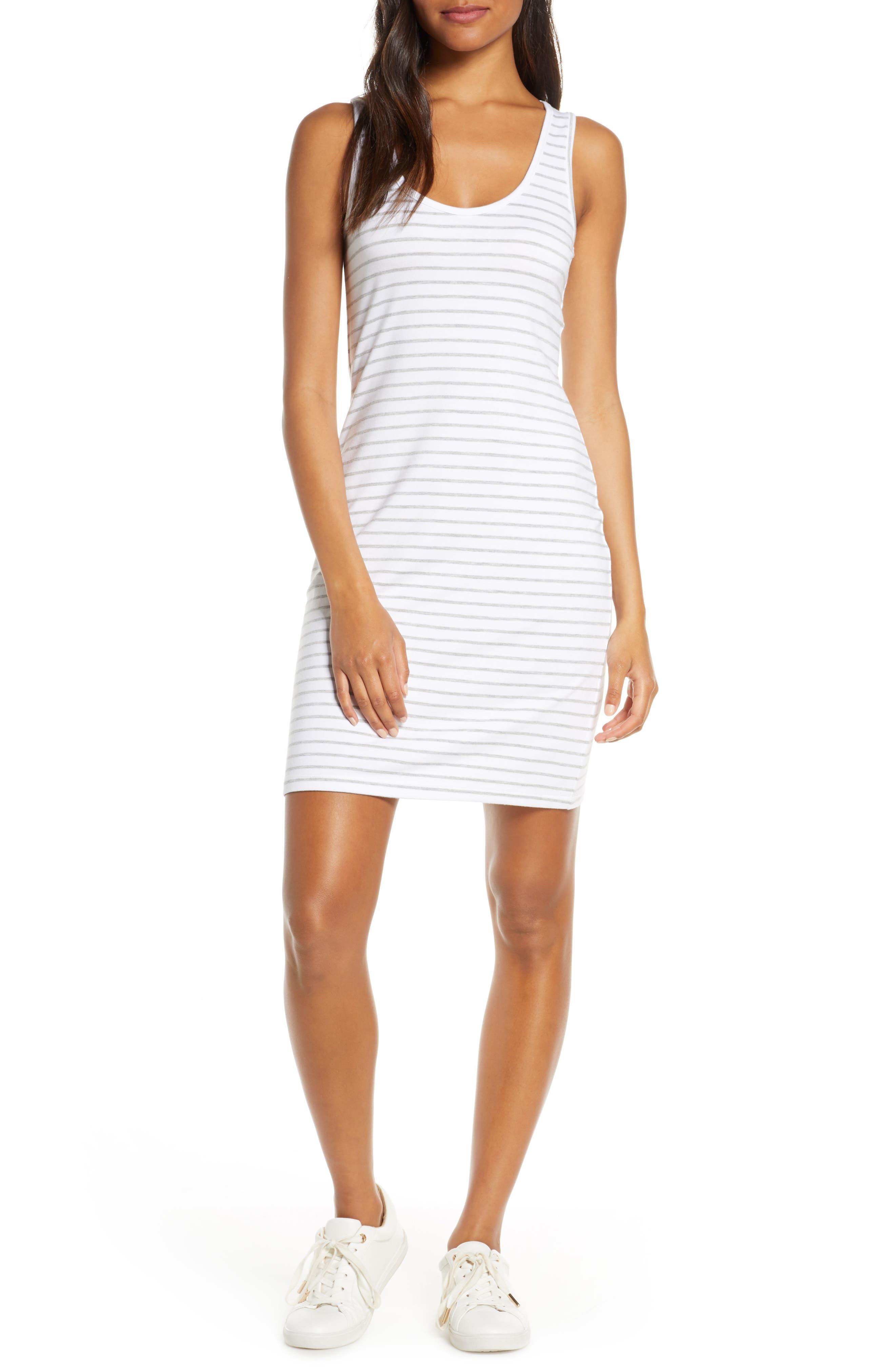 Bb Dakota Summer Night Stripe Tank Dress, White