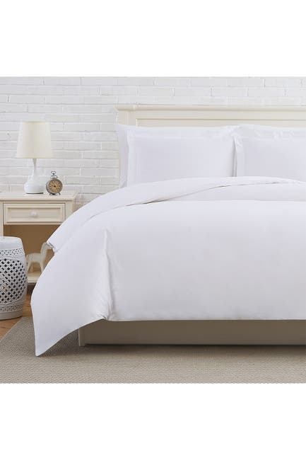 Image of SOUTHSHORE FINE LINENS Luxury Collection 300 Thread-Count Long Staple Cotton Oversized Duvet Cover Sets - White, Twin/Twin XL