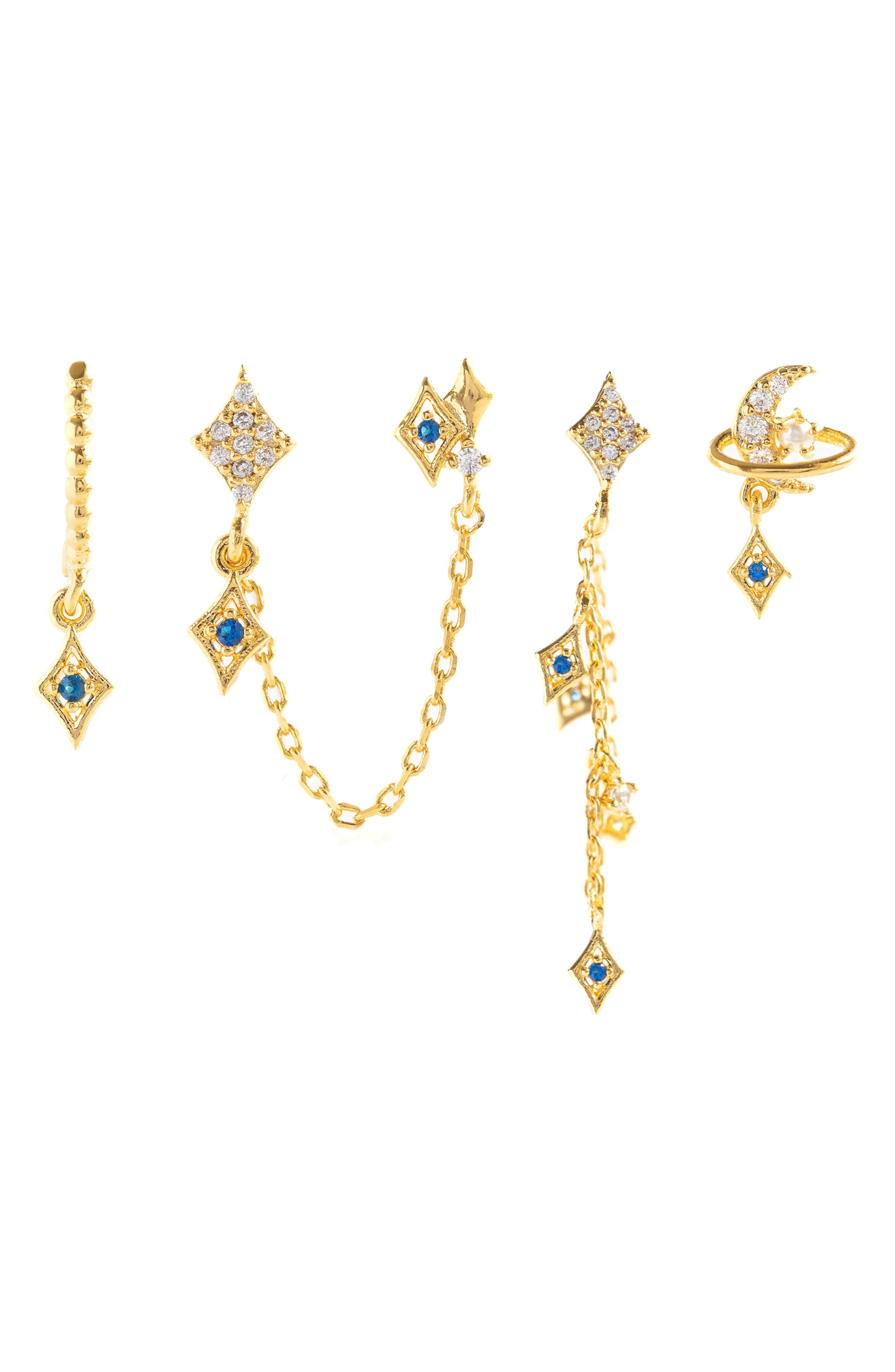 Stellar Set Of 4 Mismatched Earrings