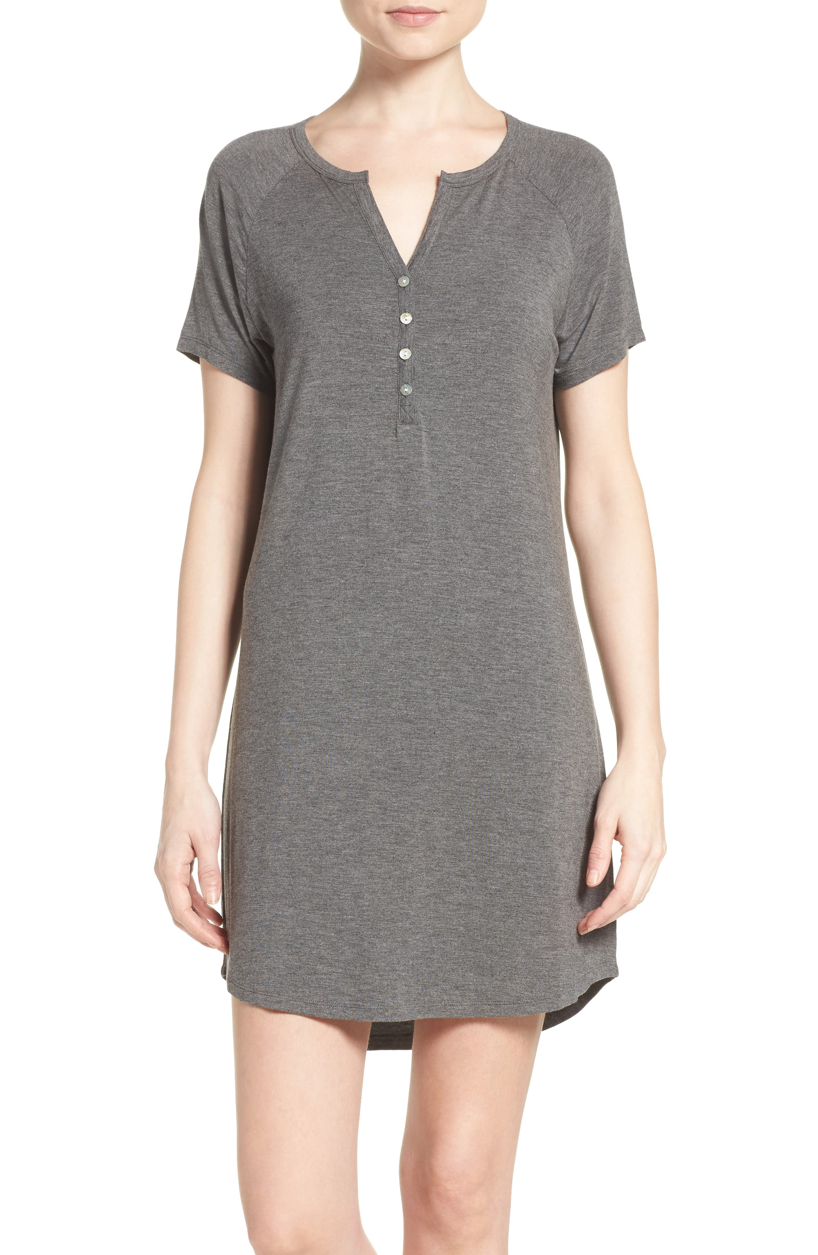 Pj Salvage Sleep Shirt, Grey