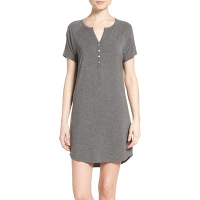 Pj Salvage Sleep Shirt, Grey